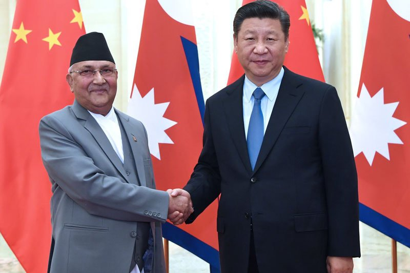 K P Oli and Jinping