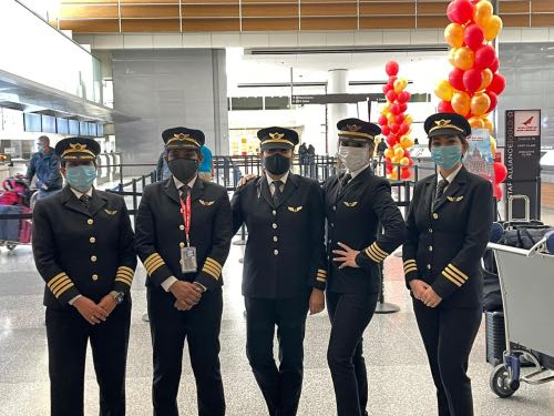 all-women Air India crew