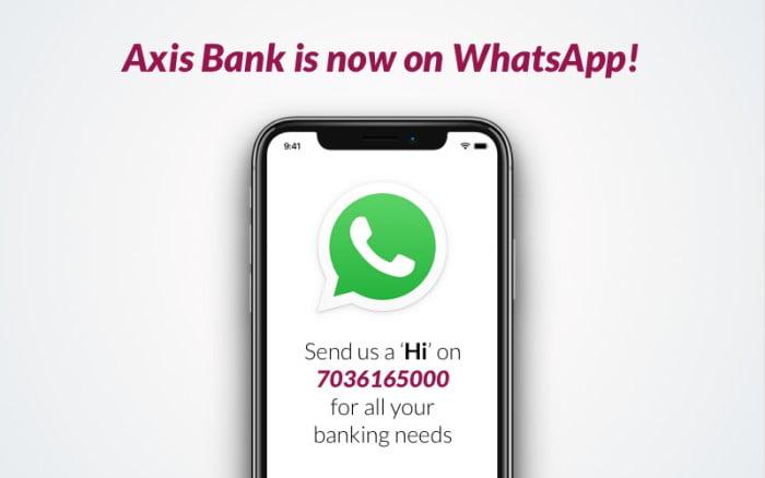 Axis Bank on WhatsApp