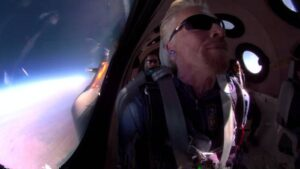 Branson Bezos space race