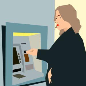 Bank ATMs cash